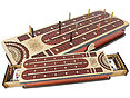 Continuous Cribbage Board inlaid with Maple / Bloodwood : 4 Tracks with place to mark won games and drawer storage