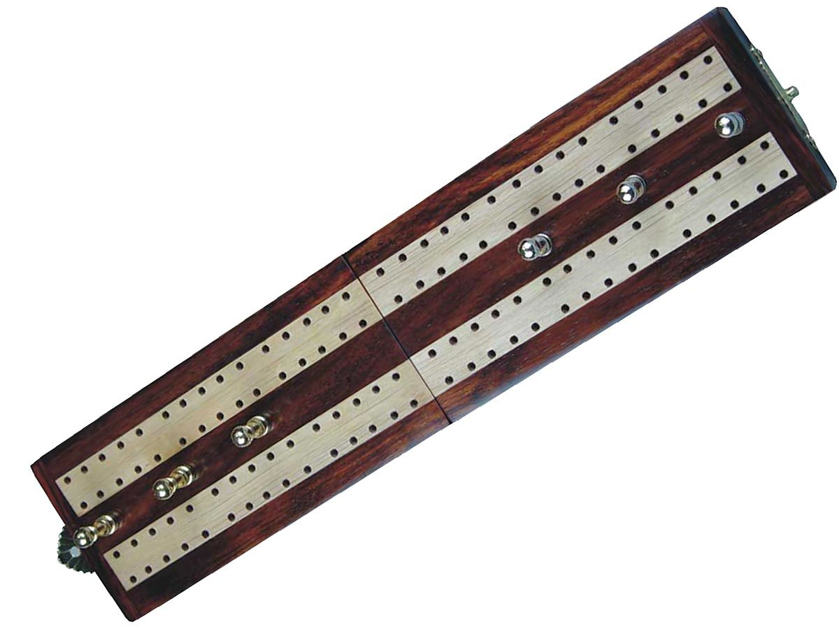 Front View of artistic cribbage board