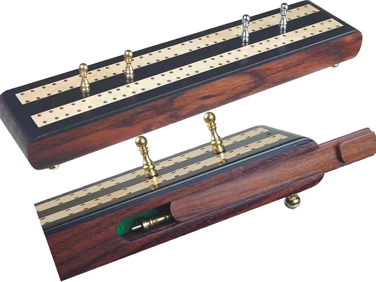 Regalia Flat Cribbage Board in Ebony / Maple 10