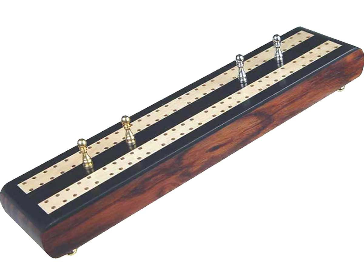 Flat Cribbage Board in Ebony