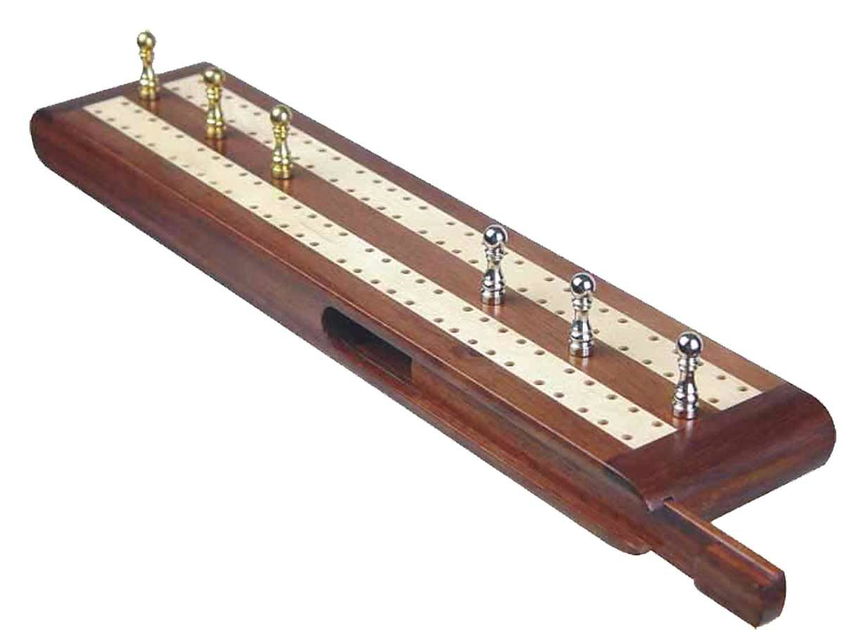 Cribbage Boards with Sliding Lid with Pegs