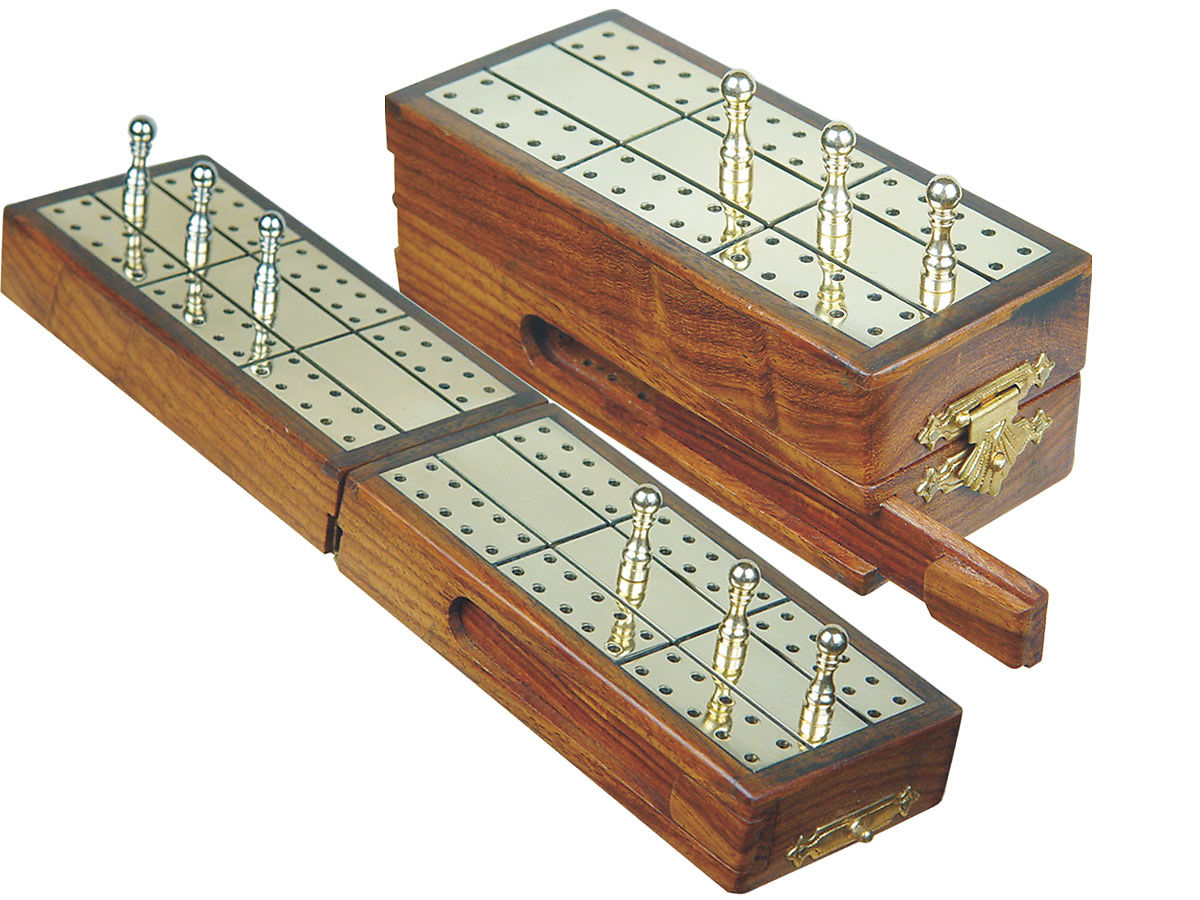 Great for Travel Spiral Cribbage Board with Card and Peg Storage