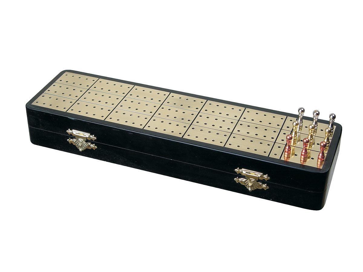 Brass Inlaid Cribbage Board