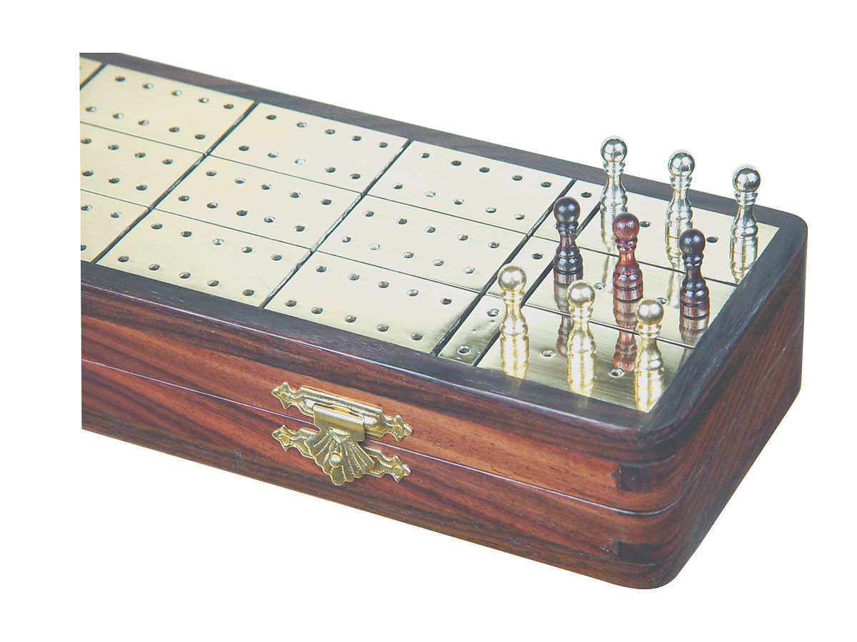 Cribbage Boards in Brass