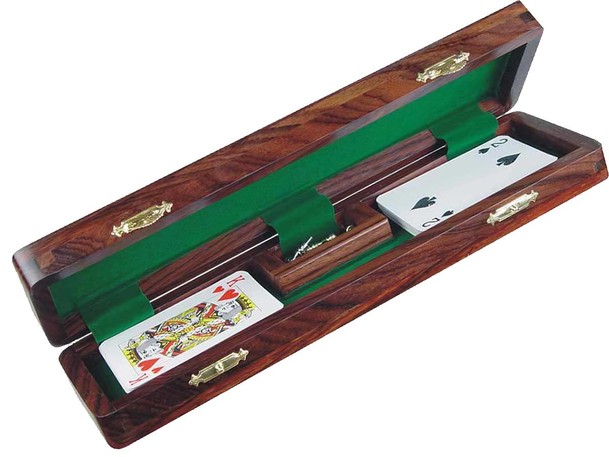 Opened Cribbage Board