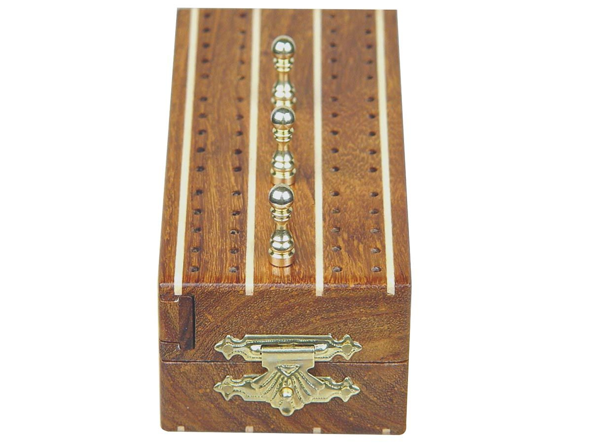 Front view of Folding Cribbage Board