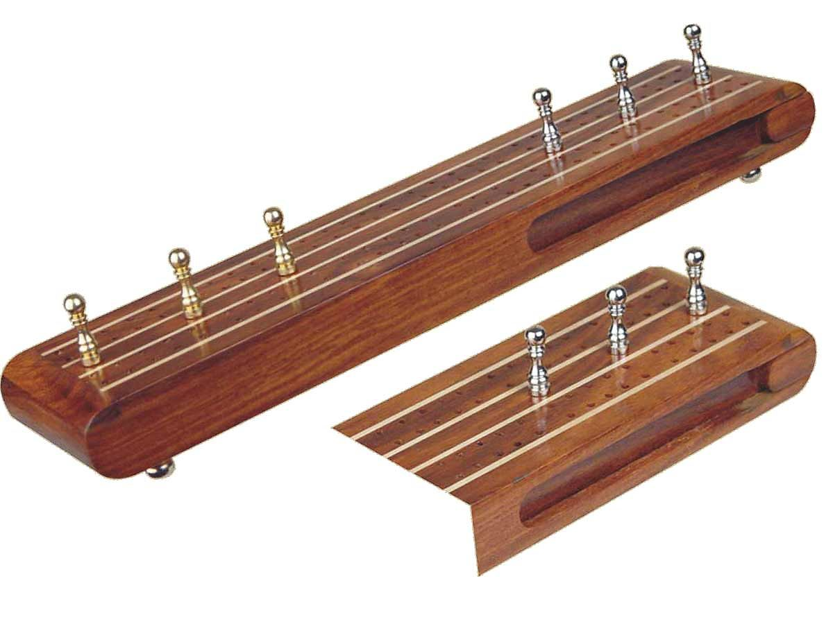 Flat Cribbage Board in Golden Rosewood