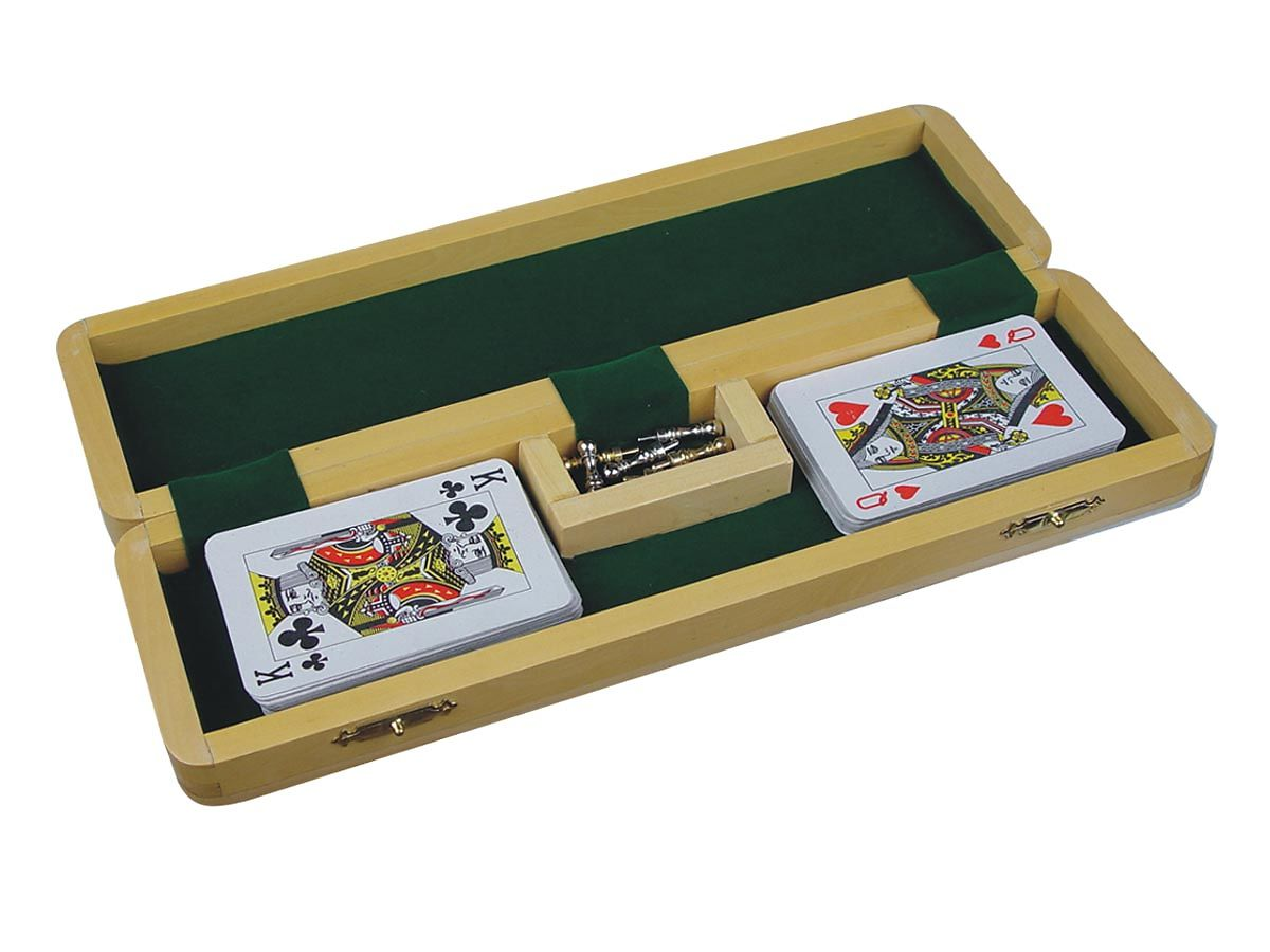 Fully Opened Cribbage Board