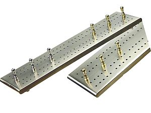 "Victorian Flat Cribbage Board in Solid Brass 10"" - 2 Tracks"