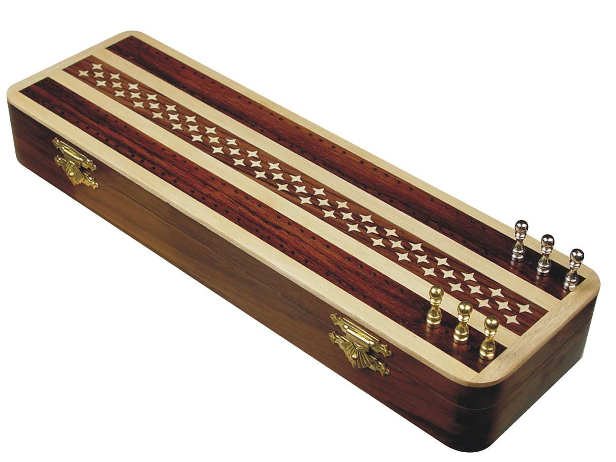 Artistic 2 Track Cribbage Board in Rosewood