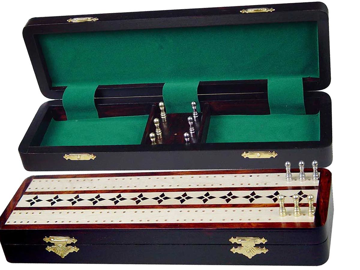 Cribbage Board and Box  in Rosewood