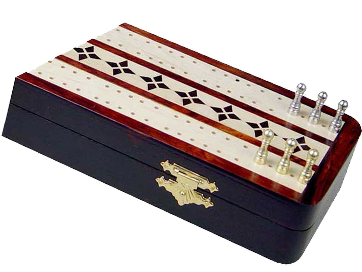 Close Up View of Cribbage board