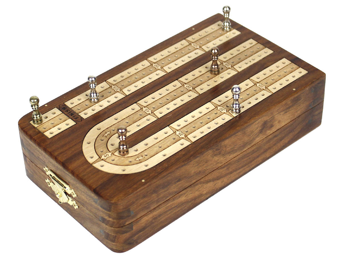 Unique Folding 3 Tracks Continuous Cribbage Boards 120 Points