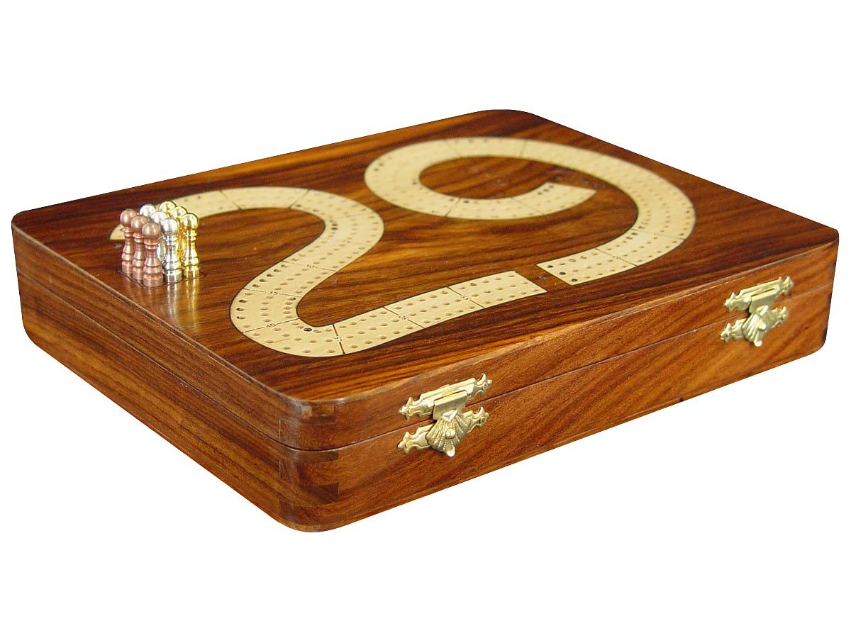 Cribbage board / box - Side View