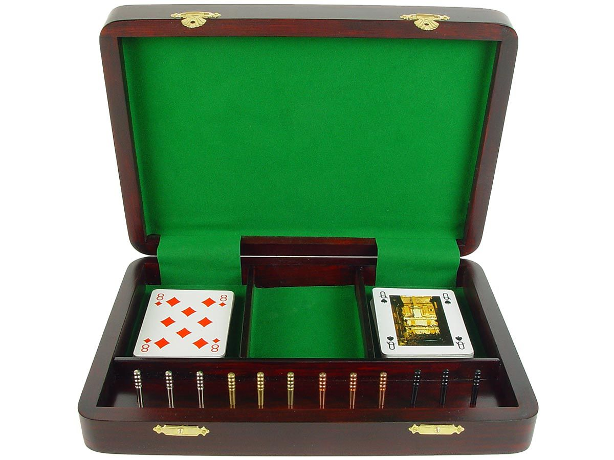 Inner View of Continuous Cribbage Board / Box