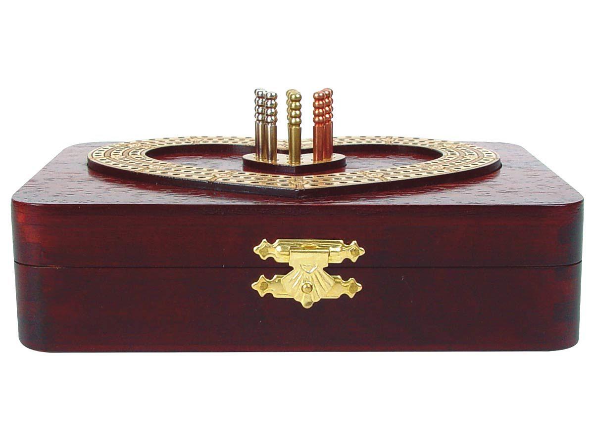 Inlaid and Raised tracks on top of Blood wood box