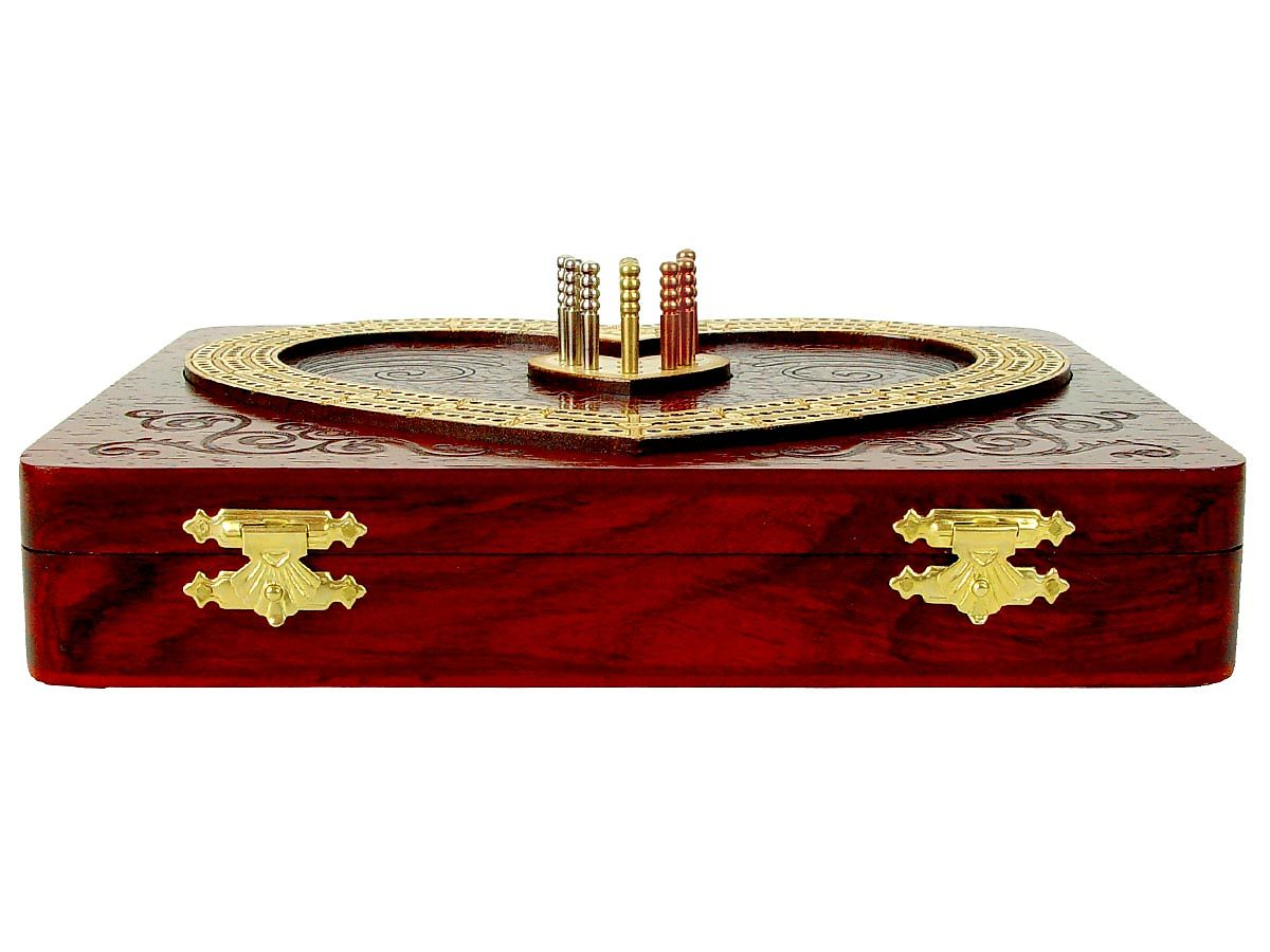 Inlaid and Raised tracks of Maple on top of Bloodwood box