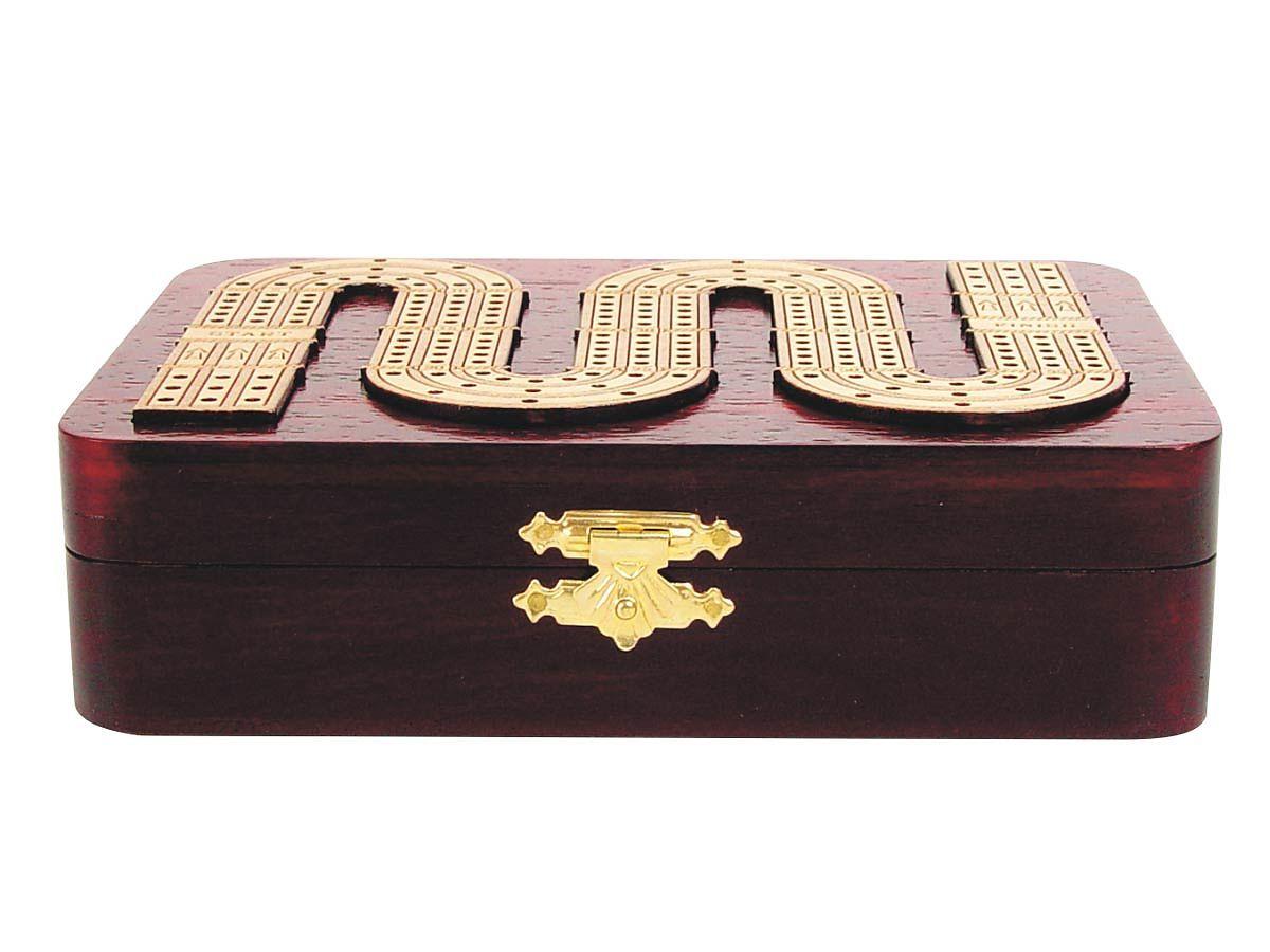 Inlaid and Raised tracks on top of rose wood box