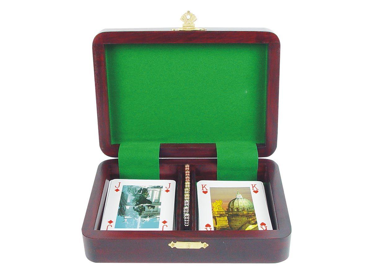 Zig Zag Shape Cribbage Board/Box - Inner View