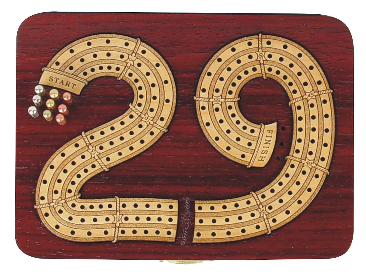 Exclusive 29 Digits shape continuous cribbage board 3 tracks