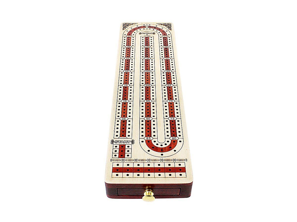Continuous 3 track cribbage board