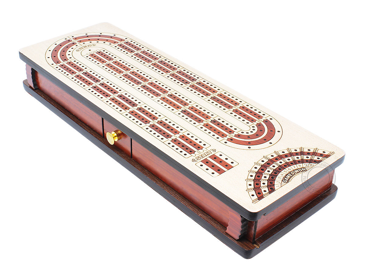 Alphabet e Shape Contiuous Cribbage Board