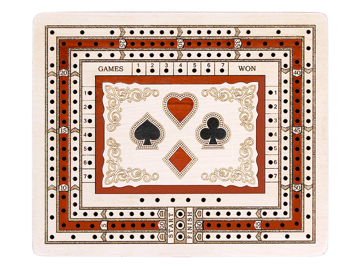 Rectangular Cribbage Board