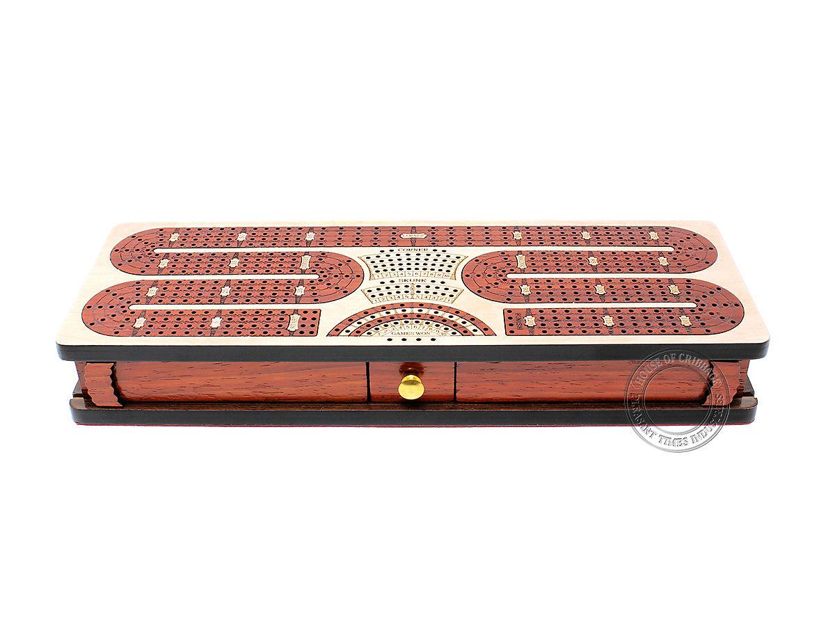 Twist Design Cribbage Board with Mini Drawer
