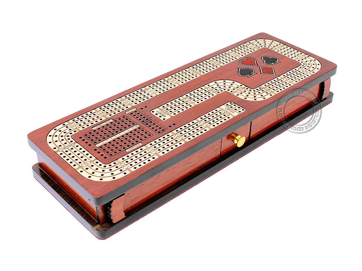 Hook Design Cribbage Board Continuous 4 Tracks