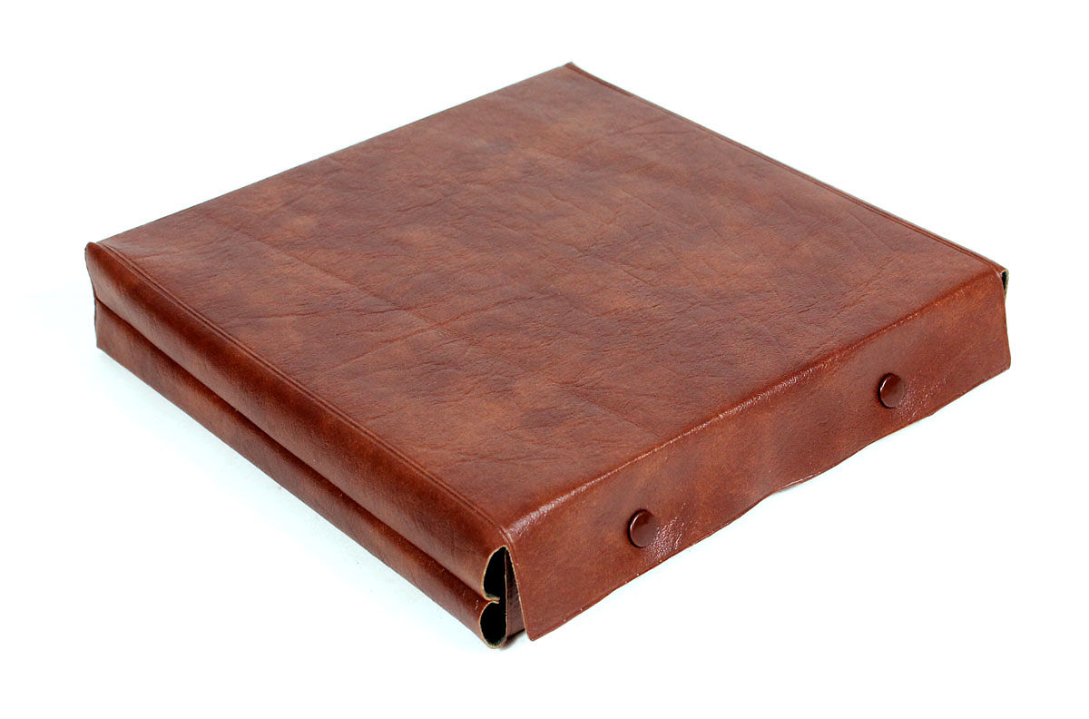 Leather cover for cribbage board