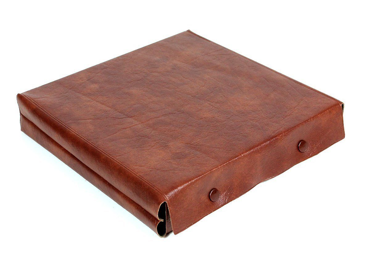 Leatherette cover for cribbage board