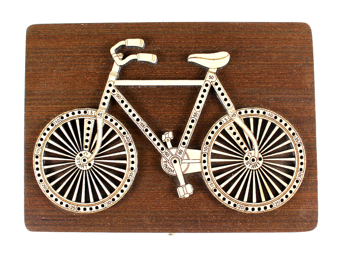 Top view of  Bicycle design 2 tracks